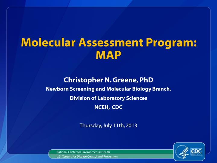 molecular assessment program map n.