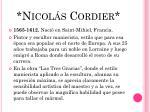 nicol s cordier