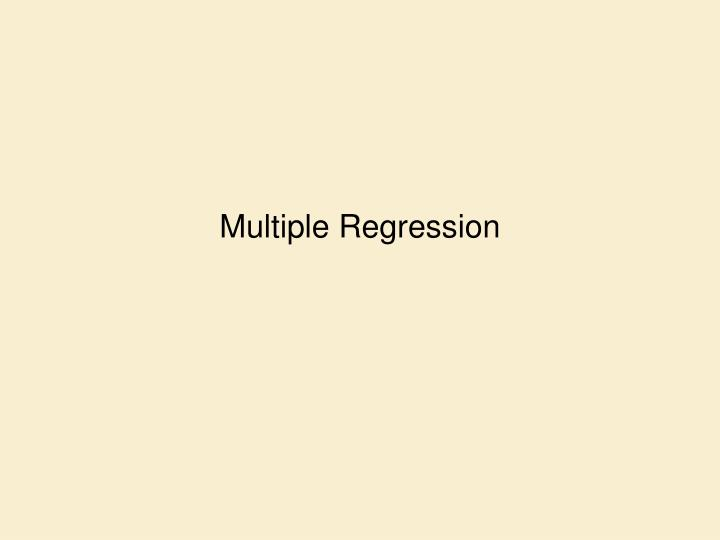 multiple regression n.