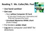 reading 7 ms culler ms paul