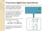 fracciones algebraicas equivalentes