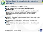 learn from decadal survey mission planners
