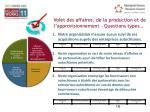 volet des affaires de la production et de l approvisionnement questions types