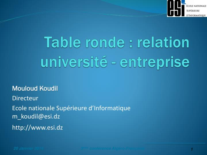 table ronde relation universit entreprise n.