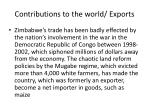 contributions to the world exports1