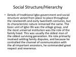 social structure hierarchy