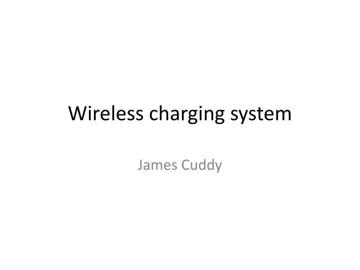 wireless charging system n.