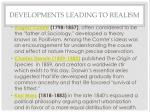 developments leading to realism