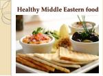 healthy middle eastern food