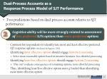dual process accounts as a response process model of sjt performance1