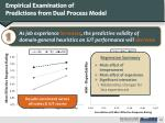 empirical examination of predictions from dual process model