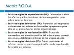 matriz f o d a3