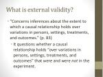 what is external validity