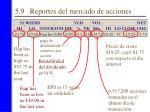 5 9 reportes del mercado de acciones