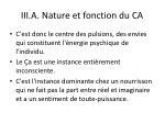iii a nature et fonction du ca1