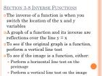 section 3 8 inverse functions