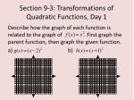 section 9 3 transformations of quadratic functions day 14