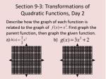 section 9 3 transformations of quadratic functions day 21