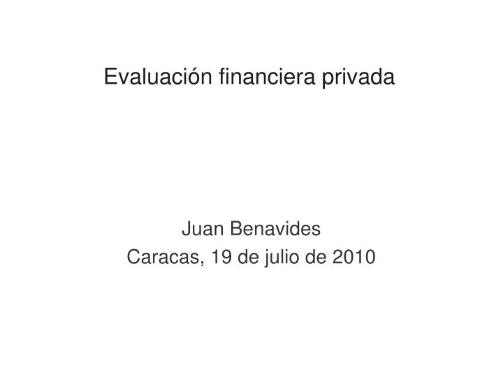 evaluaci n financiera privada n.