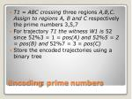encoding prime numbers