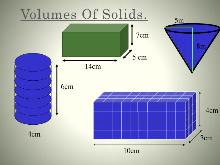 volumes of solids n.