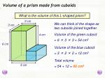 volume of a prism made from cuboids