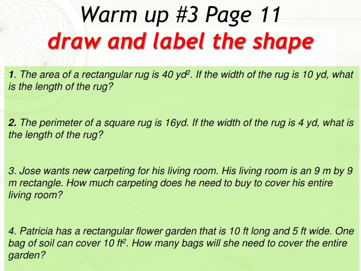 warm up 3 page 11 draw and label the shape n.