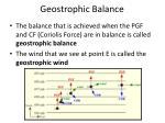 geostrophic balance1