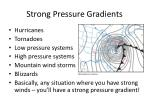 strong pressure gradients