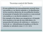 teorema central del l mite