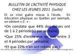 bulletin de l activit physique chez les jeunes 2011 suite1
