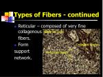 types of fibers continued1