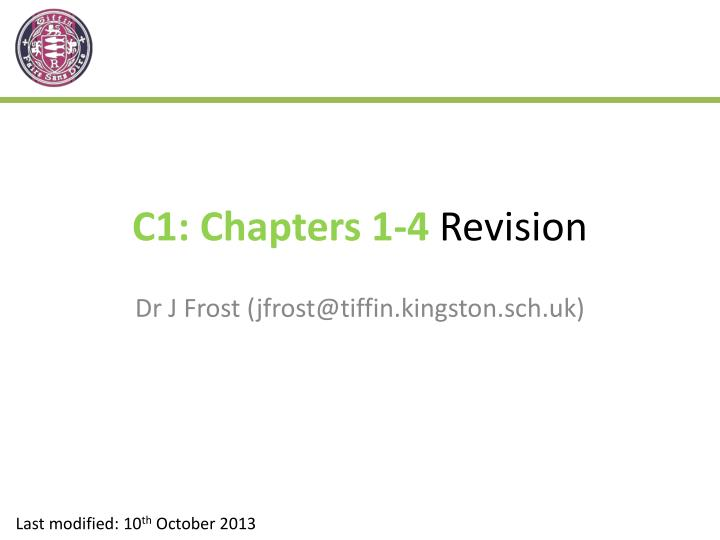 c1 chapters 1 4 revision n.