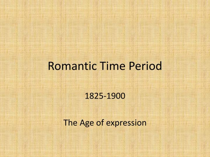 romantic time period