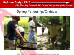 spring fellowship ordeals