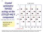 crystal symmetry o 432 acting on the 231 3 46 s component