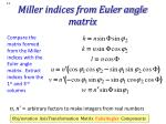 miller indices from euler angle matrix