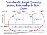 orthorhombic sample symmetry mmm relationships in euler space