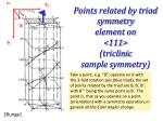 points related by triad symmetry element on 111 triclinic sample symmetry