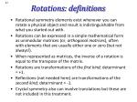 rotations definitions
