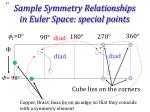 sample symmetry relationships in euler space special points