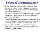 volume of orientation space