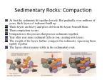 sedimentary rocks compaction