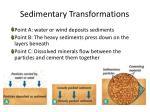 sedimentary transformations