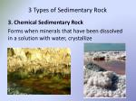 3 types of sedimentary rock