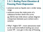 2 3 boiling point elevation freezing point depression