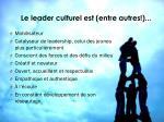 le leader culturel est entre autres