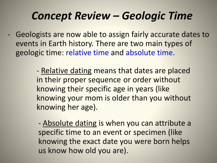 concept review geologic time n.