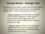 concept review geologic time