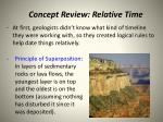concept review relative time